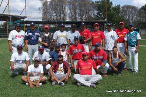 Equipo Mineros de Vallecillo del torneo municipal de beisbol