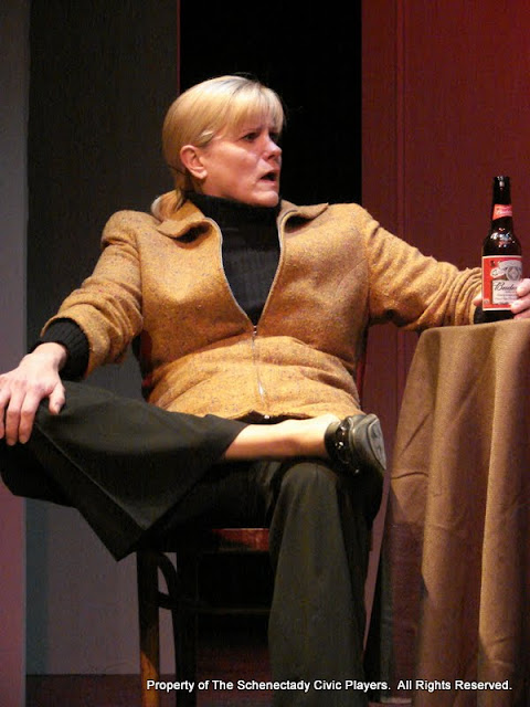 """Cristine M. Loffredo in """"The Philadelphia"""" as part of THE IVES HAVE IT - January/February 2012.  Property of The Schenectady Civic Players Theater Archive."""