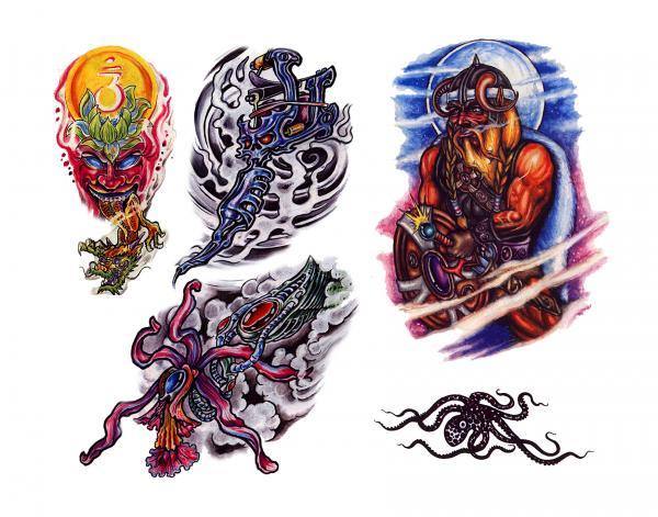 Mysterious Tattoo Design 9, Fantasy Tattoo Designs