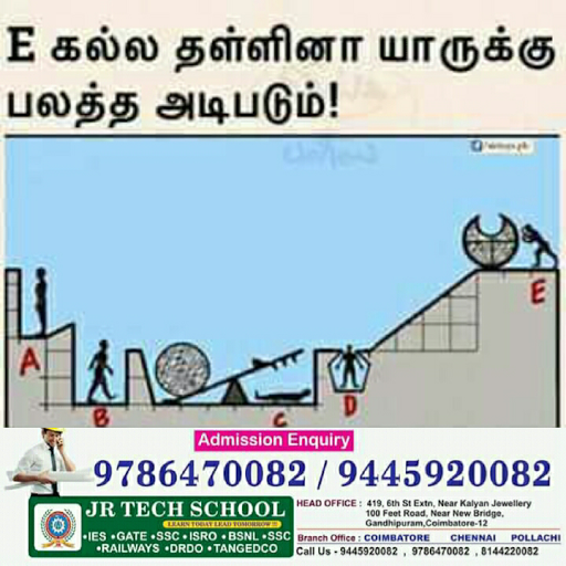 JR TECH IES GATE BSNL SSC TANGEDCO railways JE TA TNEB ISRO