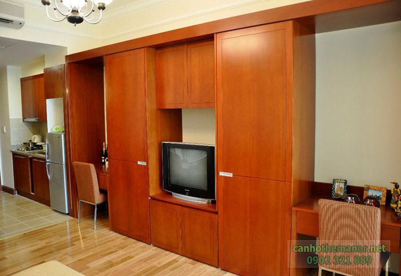 can ho the manor 38m2 tủ kệ tại phòng khác