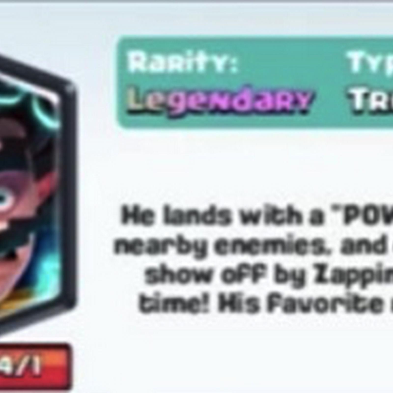 Electro Wizard clash royale legendary update (December 2016)