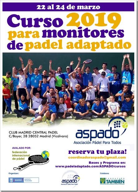 Curso Monitores Padel Adaptado ASPADO 2019
