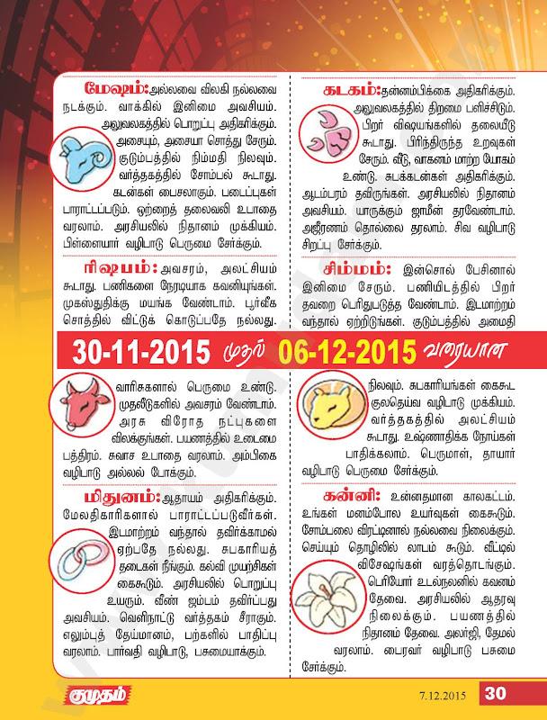 Tamil Weekly Rasi Palan
