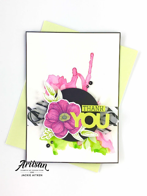jaxx crafty creations, Floral Card, Just Add Ink Challenge, Painted Seasons, Sale-a-Bration 2019, Stampin' Up!, Thank You Card,