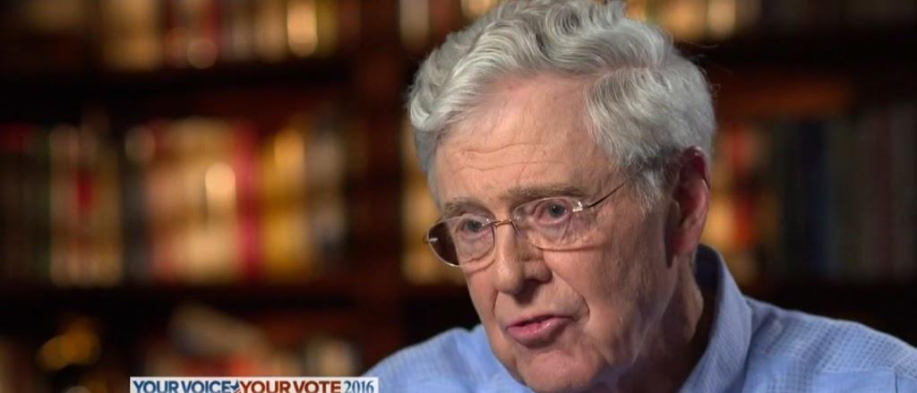 Koch: Hillary Clinton is preferable to Trump