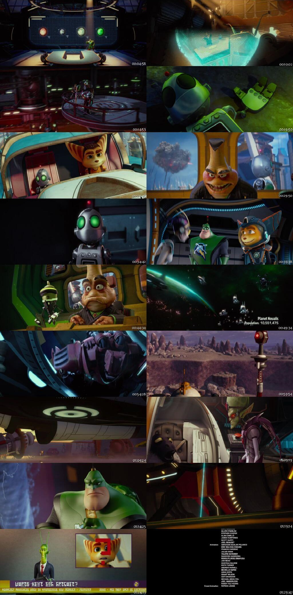 Screen Shot Of Ratchet and Clank 2016 In Hindi English Dual Audio Bluray
