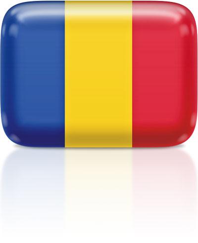 Romanian flag clipart rectangular
