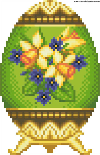 Easter Egg spring flowers chart