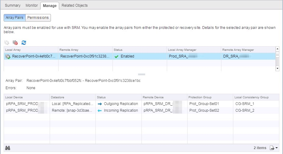 SRM 6 1 # - Problem adding ABR datastore after deleting PG