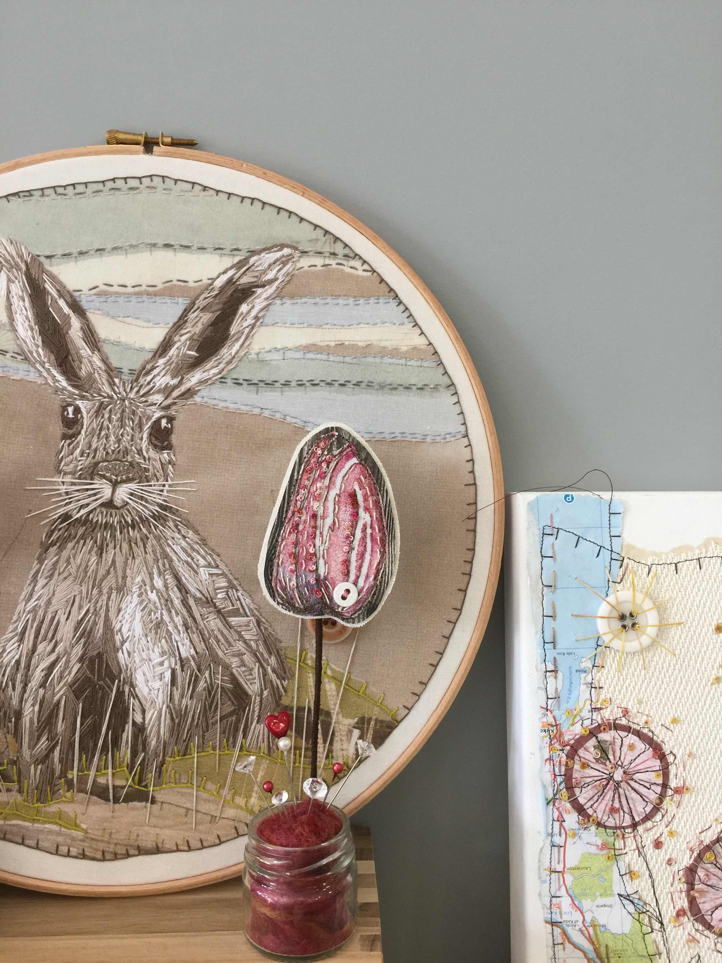 Ann Brooke's textile art