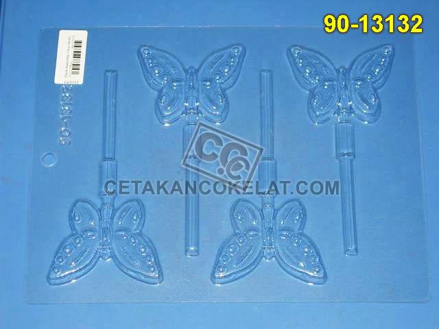 Cetakan Coklat 90-13132 cokelat lolipop kupu-kupu serangga hewan binatang kupu