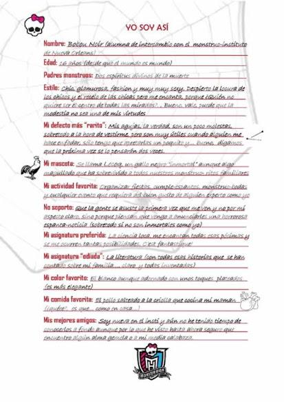 MHOC: Diario de Bobou Noir (creado por Eva Lorenzo)