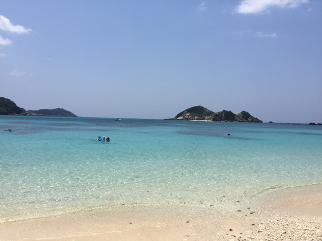 Tokashiki island has crystal blue waters and is just a short ferry ride from Okinawa main island. It's worth the day trip!