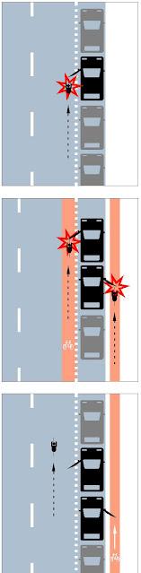 Un vehículo aparcado abre una puerta cuando está pasando un ciclista