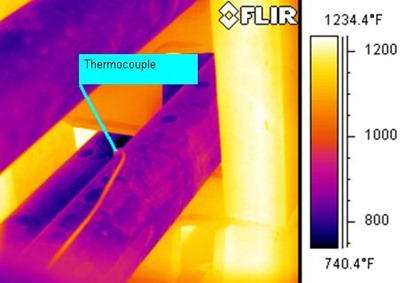 Heater tube thermocouple
