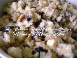 Mrs. Cubbison's Pineapple Ginger Stuffing