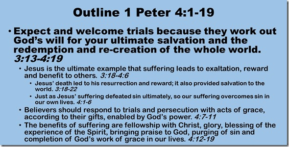 Outline 1 Peter 4.1-19