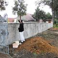 Blog-KSF-2013 / Malerarbeiten Friedhofsmauer
