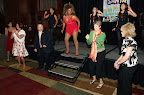 """Tina Turner"" surrounds herself with her own back-up dancers, chosen from the luncheon attendees. Photo by Mark Rogers"