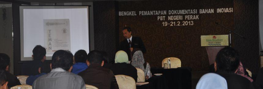 Bersama wakil Pihak Berkuasa Tempatan seluruh Negeri Perak dalam Bengkel Dokumentasi Bahan Inovasi 2013