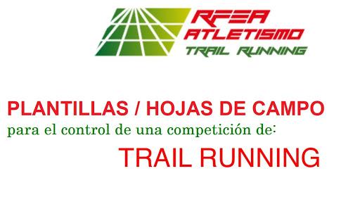 Plantillas/Hojas de campo de Trail Running del C.N.J.2021