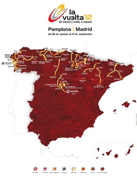 Recorrido y etapas de la Vuelta a España 2012