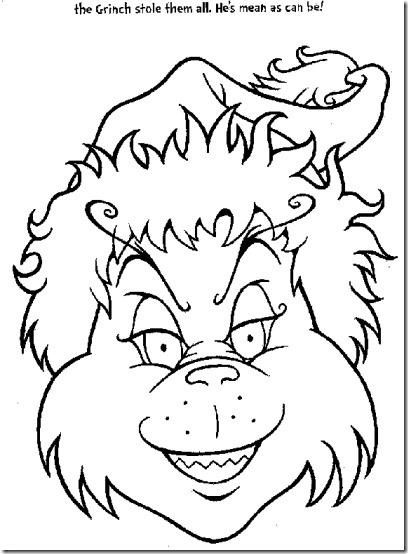 Dorable Páginas De Colores Grinch Friso - Dibujos de Animales para ...