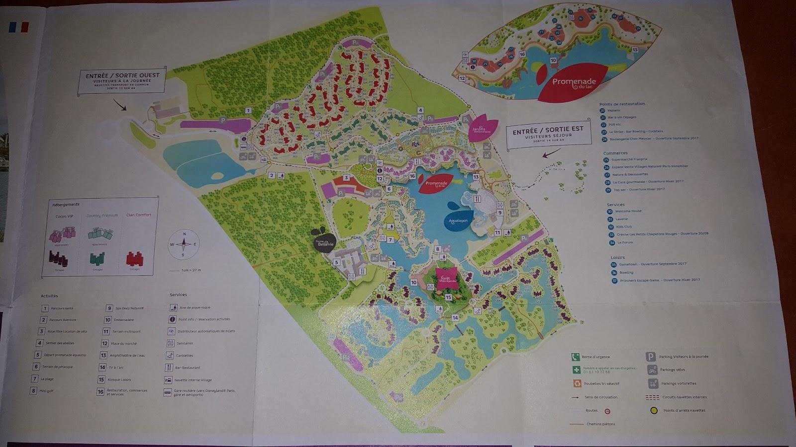 Center parcs : Plan de Villages Nature Paris