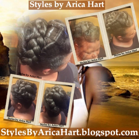 updo styles for black hair