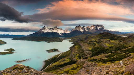 Clouds Over Cuernos del Paine, Lago Pehoe, Torres Del Paine National Park, Patagonia, Chile.jpg