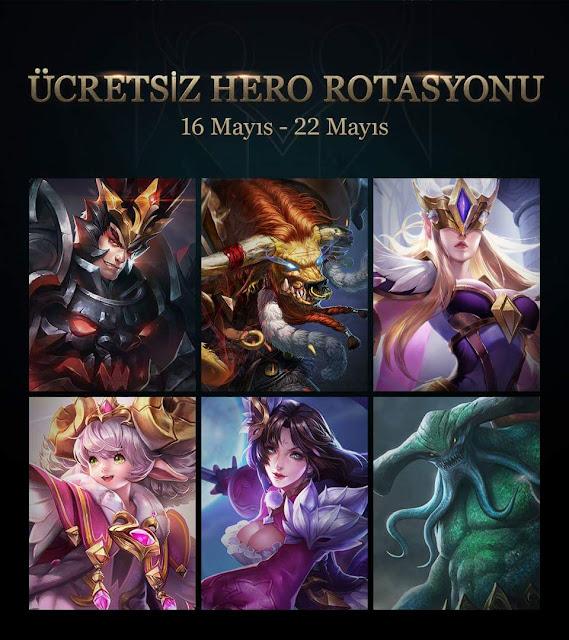 Strike of Kings 16 Mayıs ~ 22 Mayıs Ücretsiz Kahramanlar