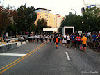Some of the APD warming up under the finish line before the race.