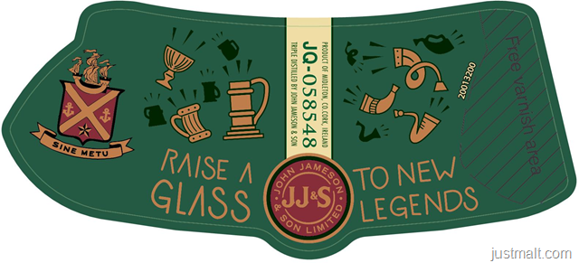 Jameson Irish Whiskey - Raise A Glass To Legends
