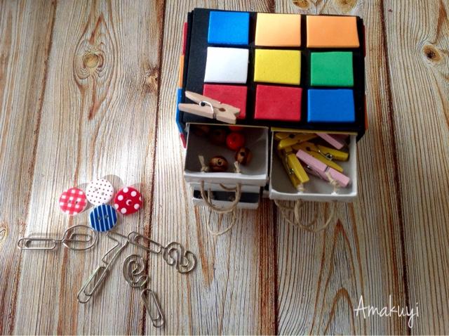 Empaquetado-caja-de-cerillas-manualidades-cubo-rubik-niños