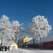 Zima ve Slatině a jejím okolí