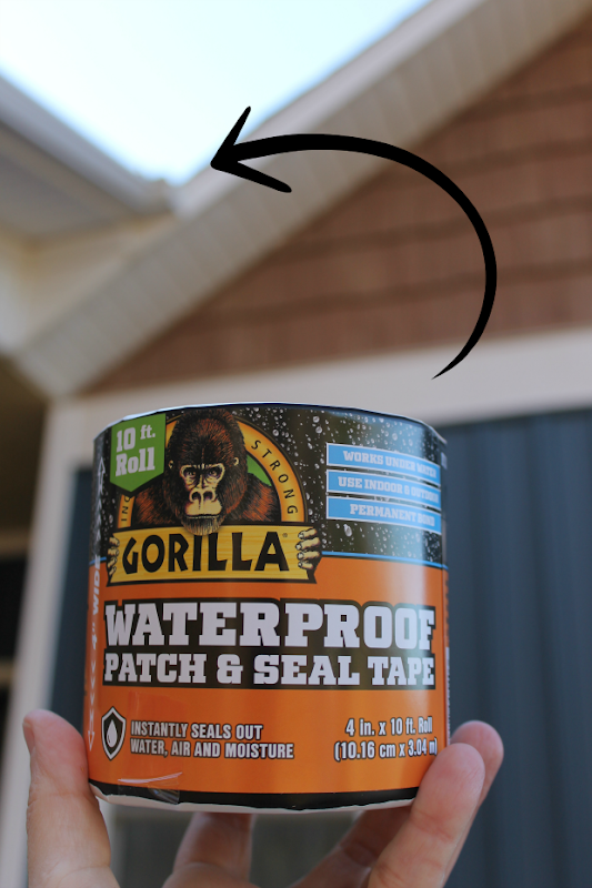 fix your gutters with gorilla waterproof patch and seal tape