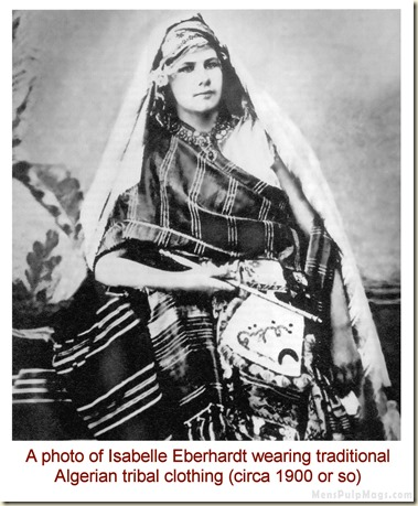 Isabelle Eberhardt early 1900s via MensPulpMags.com