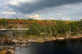Canadian Shield landscape in autumn