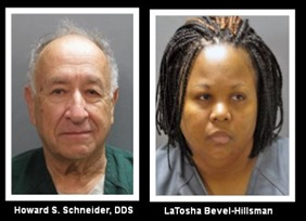 Howard Schneider and Latosha Bevel-Hillsman Mugshots