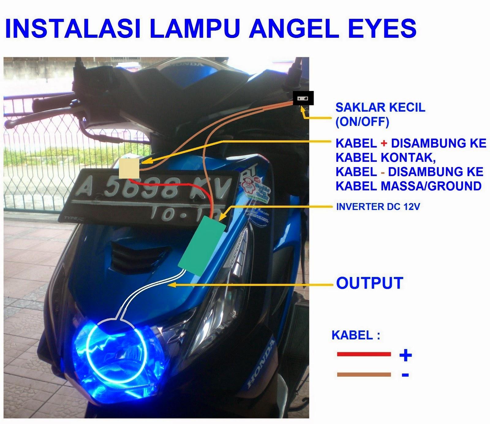 Modifikasi Lampu Senja Supra X 125