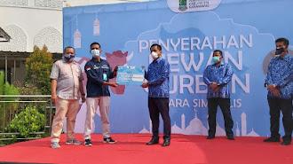 PLTGU Jawa-1 Bagikan Puluhan Hewan Kurban di Karawang, Bekasi, dan Subang