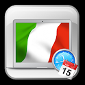 Italy TV guide show time icon