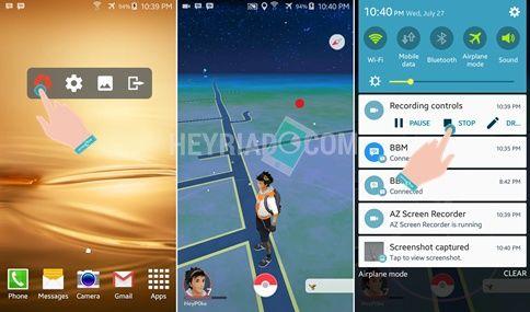 di Android bisa Anda lakukan dengan memakai aplikasi perekam layar Cara Merekam Pokemon Go Makara Video di Android