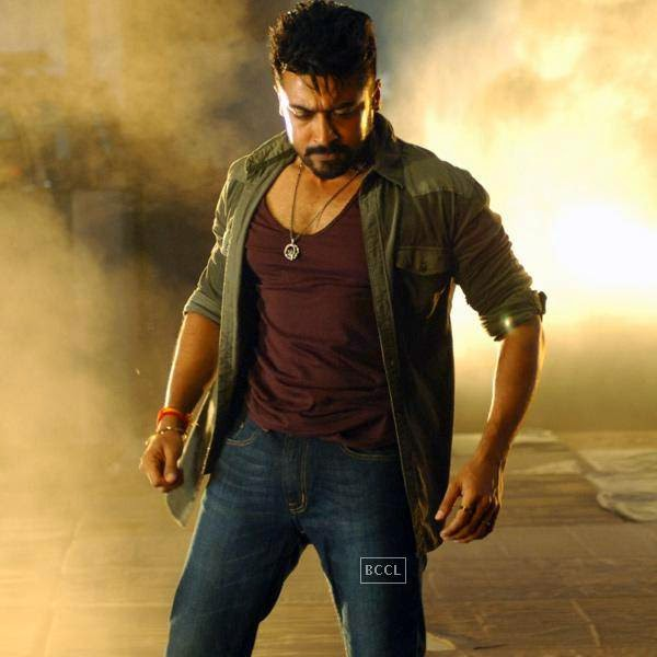 Suriya in a still from Telugu movie Sikander. (Pic: Viral Bhayani)