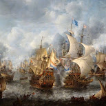 many naval battle paintings in the Rijksmuseum in Amsterdam, Noord Holland, Netherlands
