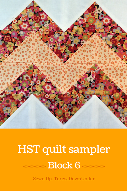 Block 6: 16 HST quilt sampler - video tutorial