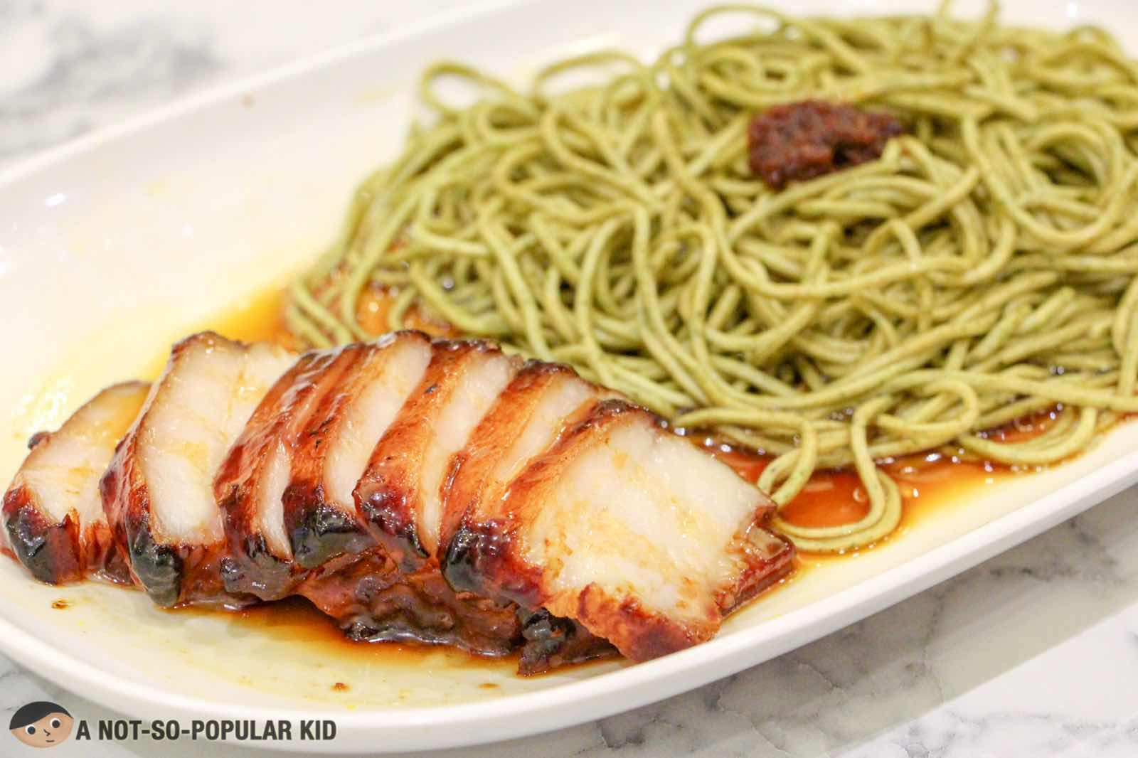 Char Siew Vegetable Noodles of Hawker Chan