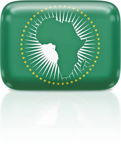 African flag clipart rectangular
