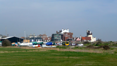 Aldeburgh from the  River Alde estuary